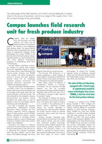 Compac launches field research unit for fresh produce industry