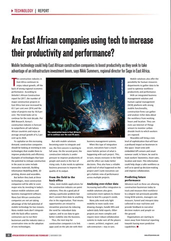 Are East African companies using tech to increase their productivity and performance?