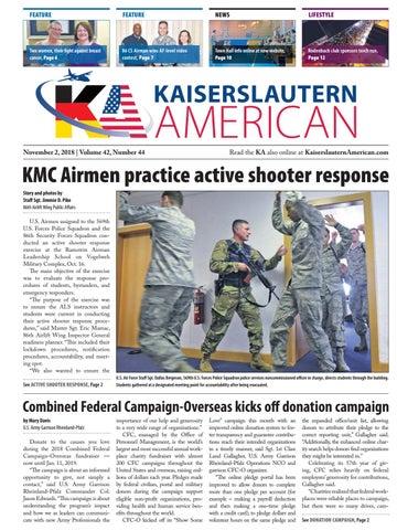Kaiserslautern American, November 2, 2018
