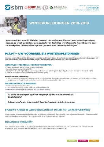SBM - Winteropleidingen 2018