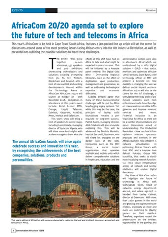 AfricaCom 20/20 agenda set to explore the future of tech and telecoms in Africa