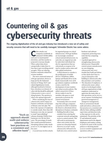 Countering oil & gas cybersecurity threats