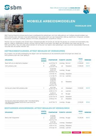 SBM Mobiele arbeidsmiddelen Voorjaar 2019