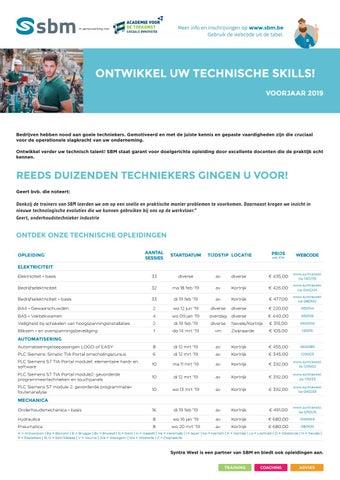 SBM Technische skills Voorjaar 2019