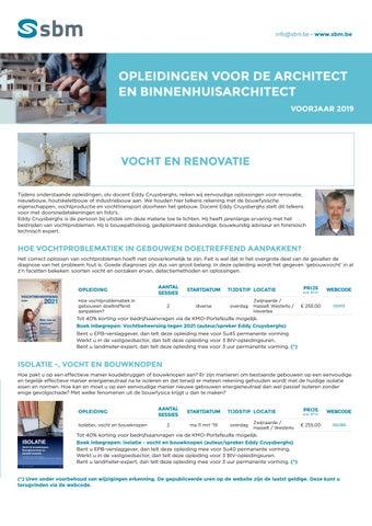 SBM opleidingen voor architect en binnenhuisarchitect Voorjaar 2019