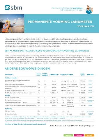 SBM permanente vorming landmeter Voorjaar 2019