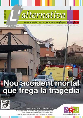 L'Alternativa 92. Nou accident mortal que frega la tragèdia