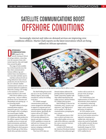 SATELLITE COMMUNICATIONS BOOST OFFSHORE CONDITIONS