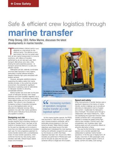 Safe & efficient crew logistics through marine transfer