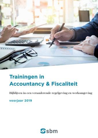 SBM Accountancy en fiscaliteit Voorjaar 2019