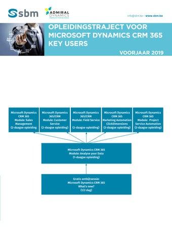 SBM Opleidingstraject Microsoft Dynamics CRM 365 Voorjaar 2019