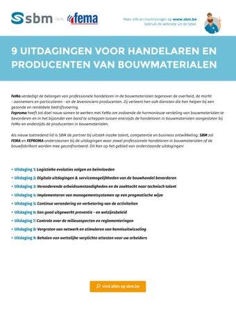 SBM - 9 uitdagingen voor handelaren en producenten van bouwmaterialen