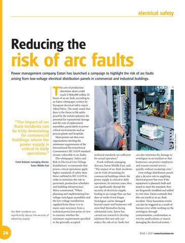 Reducing the risk of arc faults