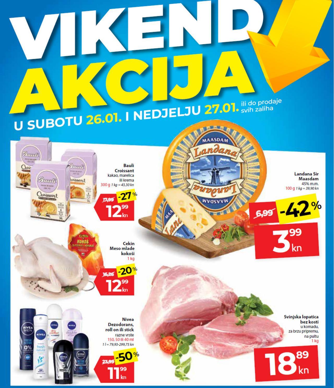 Top ponuda samo u subotu i nedjelju. Nova vikend akcija od 26.- 27.01.2019. u Kaufland supermarketima.