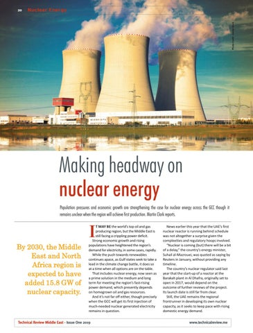 Making headway on nuclear energy