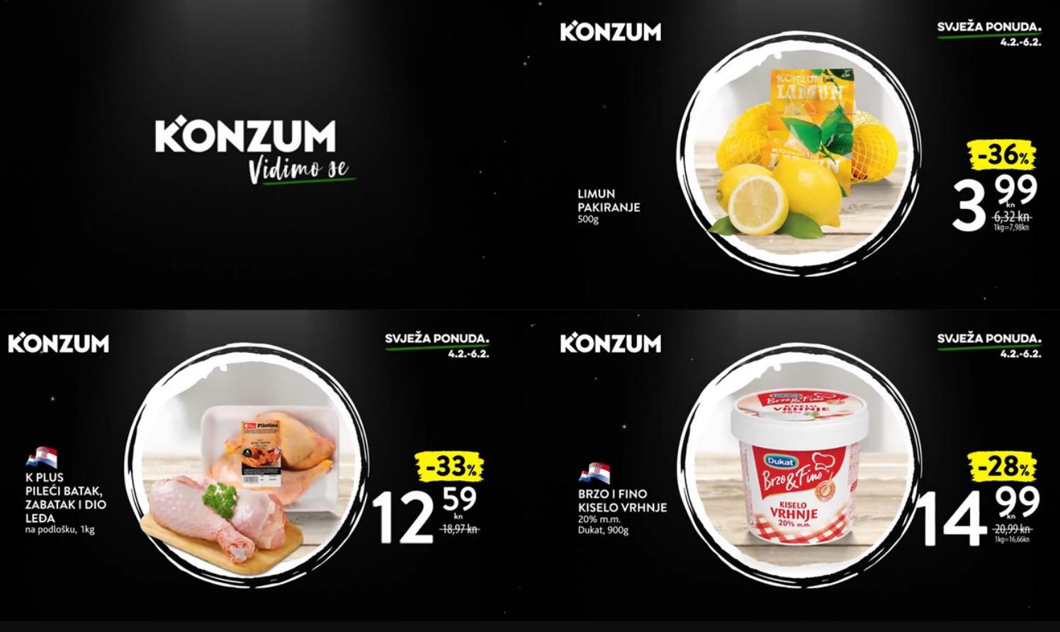 Nova super akcija i nova svježa ponuda u Konzumu! U periodu od 04.- 06.02.2019. iskoristite nove ponude i kupujte povoljnije!