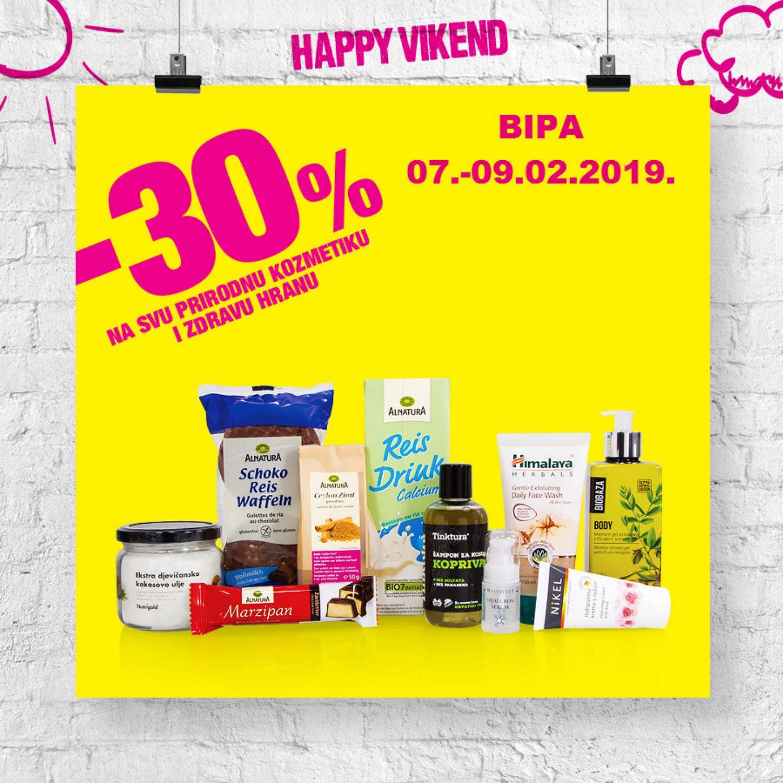 Nova Happy vikend akcija od 07.- 09.02.2019. u BIPA drogerijama!