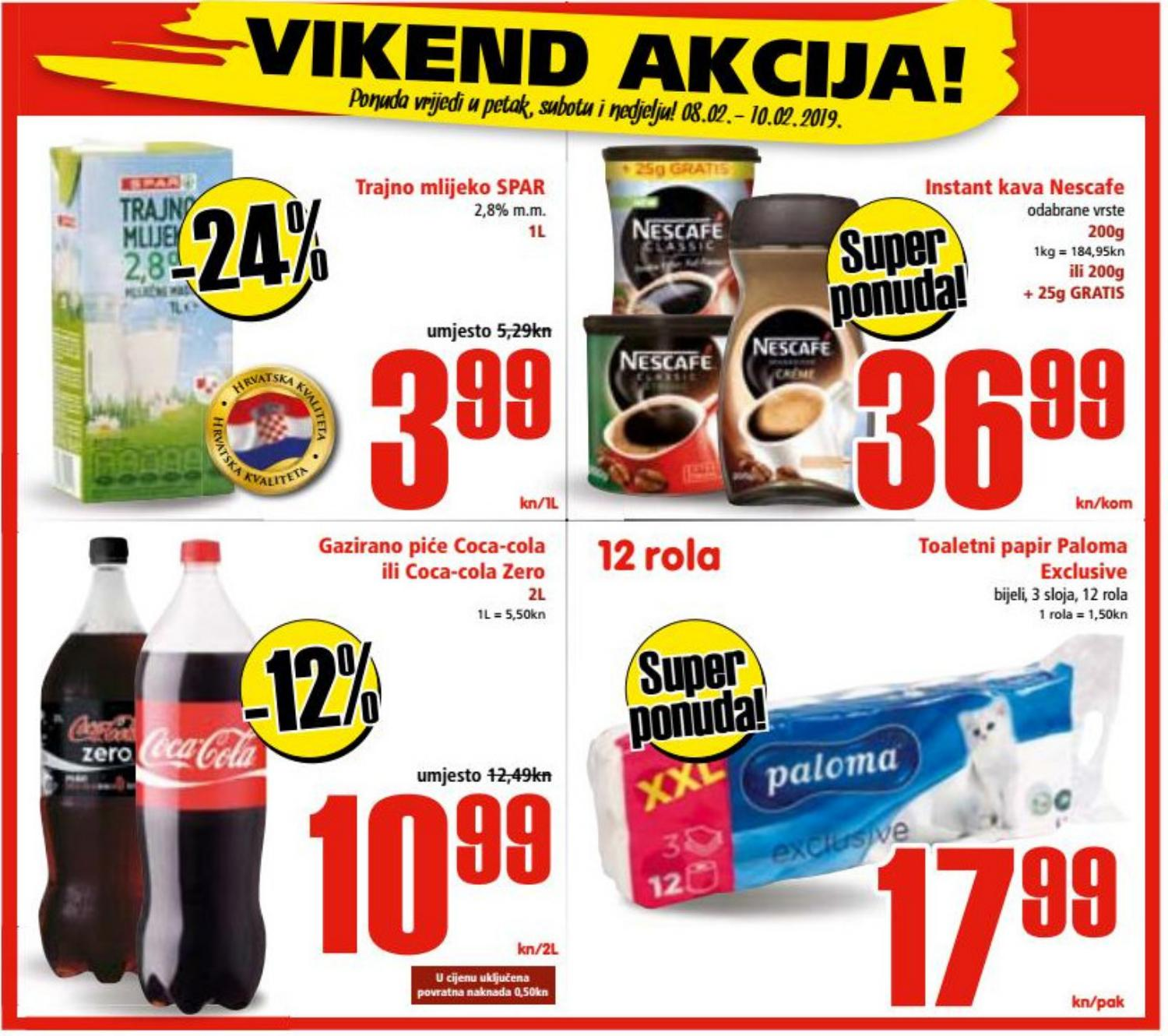 Ne propustite nova vikend sniženja od 07.- 09.02.2019. u Spar i Interspar supermarketima.