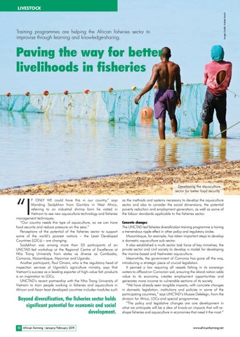 Paving the way for better livelihoods in fisheries