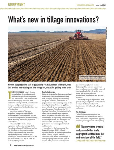 What�s new in tillage innovations?