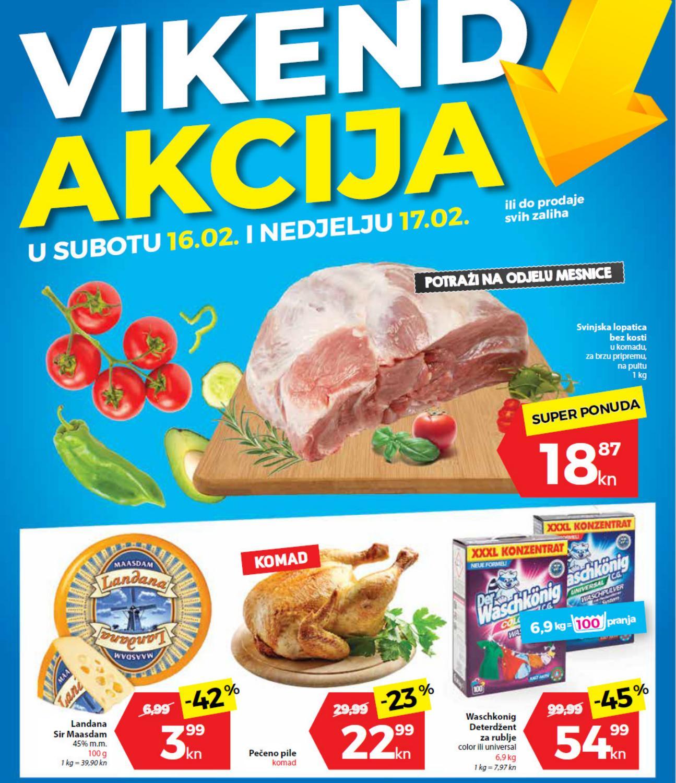 I ovog vikenda od 16.- 17.02.2019. iskoristite nove popuste i kupujte povoljnije u Plodine supermarketima.