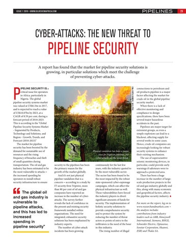 Cyber-attacks: the new threat to pipeline security