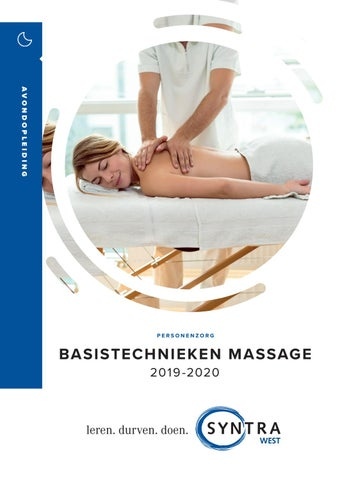 Syntra West basis massage voorjaar 2019