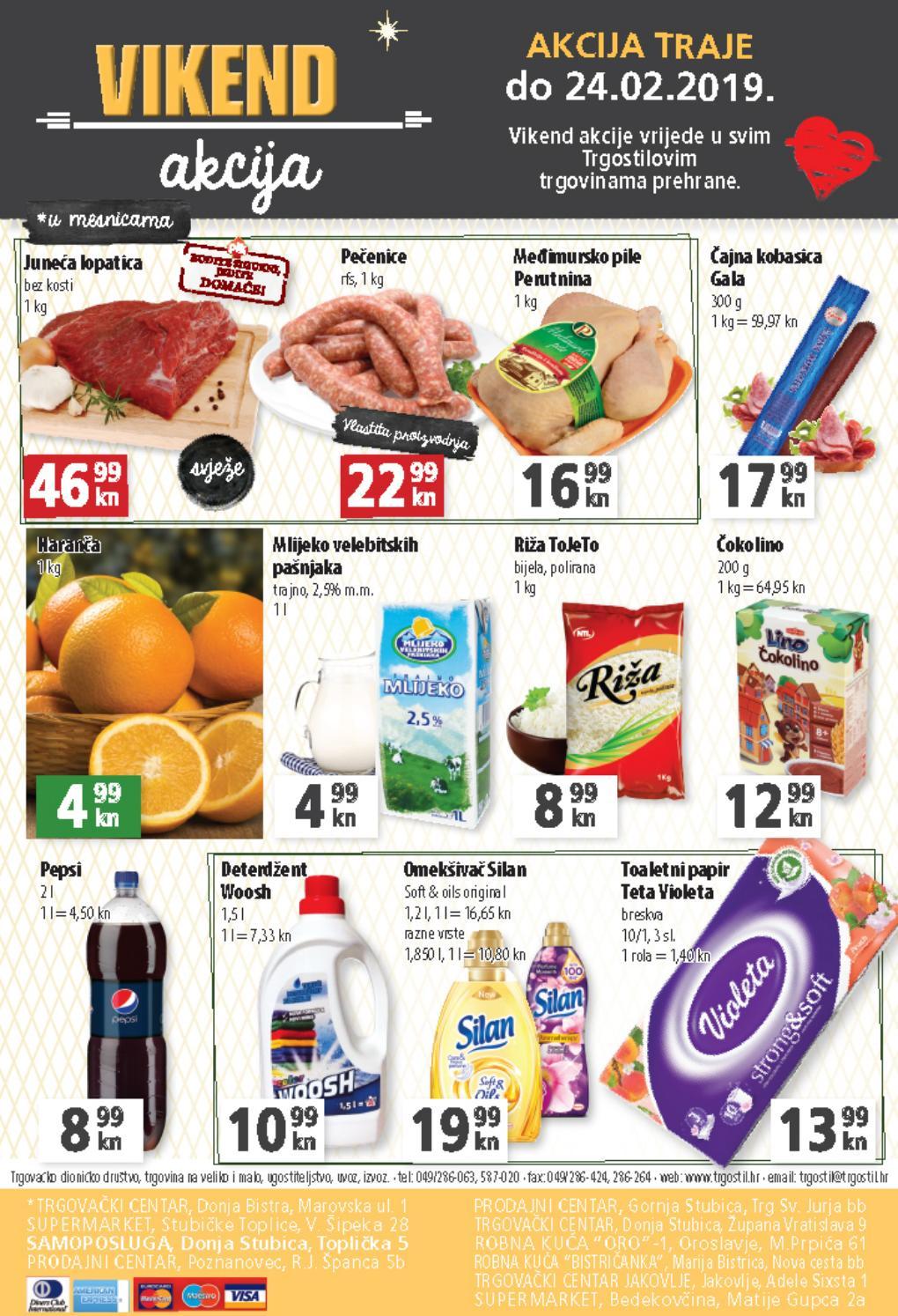 Najbolja vikend ponuda! I ovog vikenda od 22.- 24.02.2019. iskoristite nove popuste i kupujte povoljnije u Trgostil trgovinama prehrane.