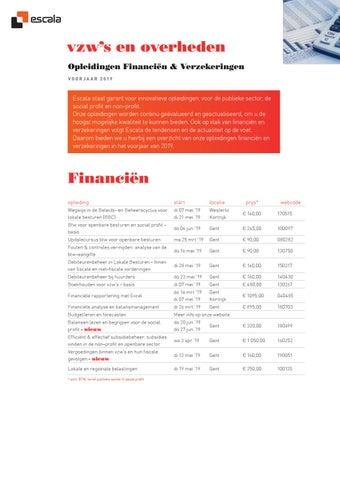 Escala Opleidingen Financiën & Verzekeringen voorjaar 2019