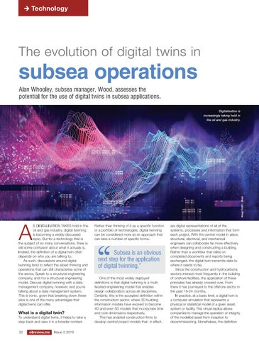 The evolution of digital twins in subsea operations