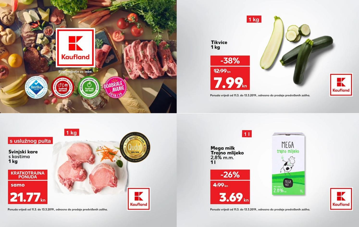 Kaufland vam donosi nova sniženja za početak tjedna od 11.- 13.03.2019. u svim Kaufland supermarketima.