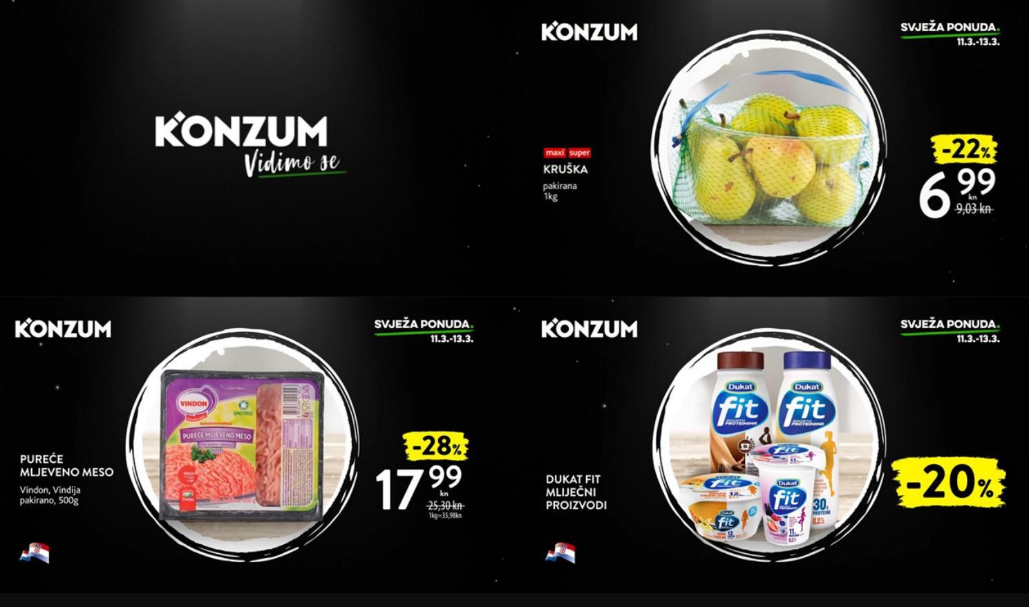 Nova super akcija i nova svježa ponuda u Konzumu! U periodu od 11.- 13.03.2019. iskoristite nove ponude i kupujte povoljnije!