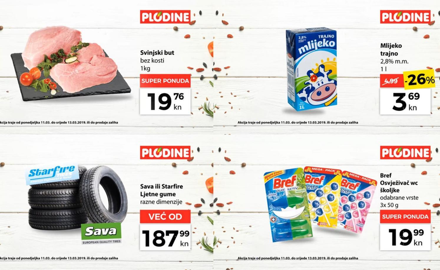 Top ponude za početak tjedna! Od ponedjeljka do srijede, 11.- 13.03.2019.  iskoristite nove popuste i kupujte povoljnije u Plodine supermarketima.