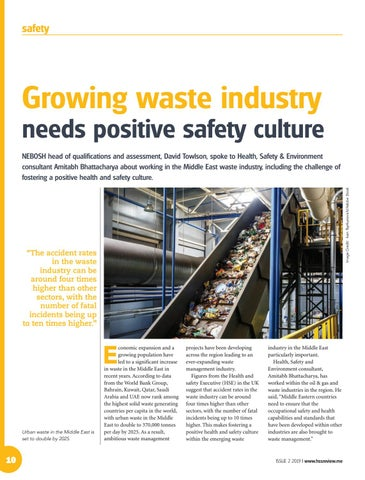 Growing waste industry needs positive safety culture