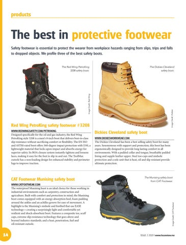 The best in protective footwear