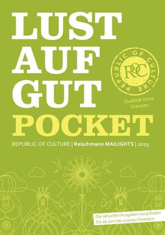 LUST AUF GUT Pocket | Reischmann MAILIGHTS | 2019