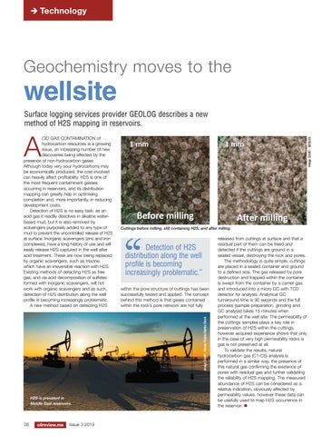 Geochemistry moves to the wellsite