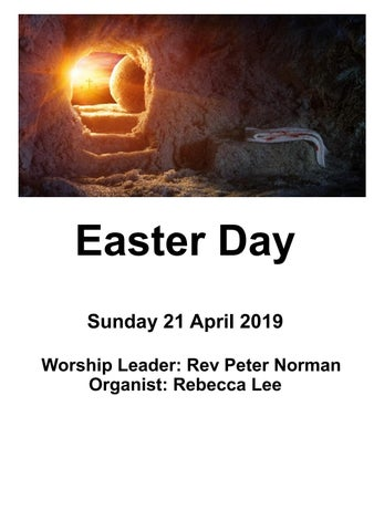 Takapuna Methodist Church Easter Sunday Bulletin 21 April 2019