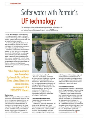Safer water with Pentair's UF technology