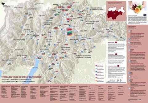 Mappa dei luoghi del gusto | Flavour map | Genusskarte