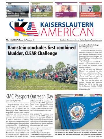 Kaiserslautern American, May 10, 2019