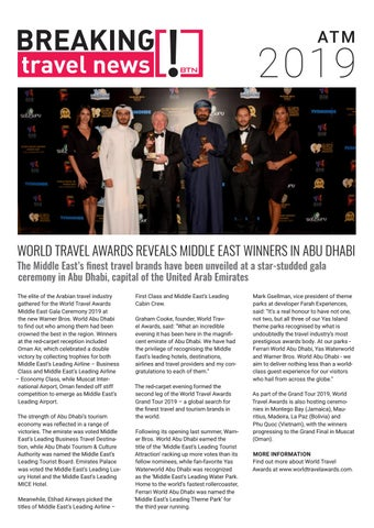 Breaking Travel News Special Edition - Arabian Travel Market 2019