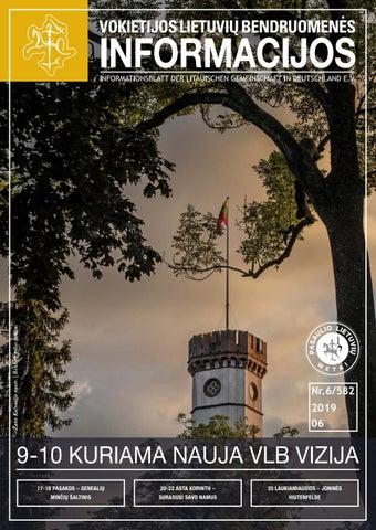 """VLB """"INFORMACIJOS"""", 2019 M. BIRŽELIS, NR. 6/582"""