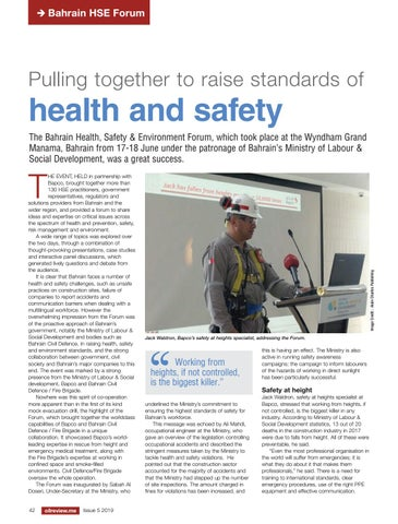 Pulling together to raise standards of health and safety