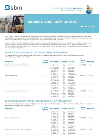 SBM Mobiele arbeidsmiddelen najaar 2019