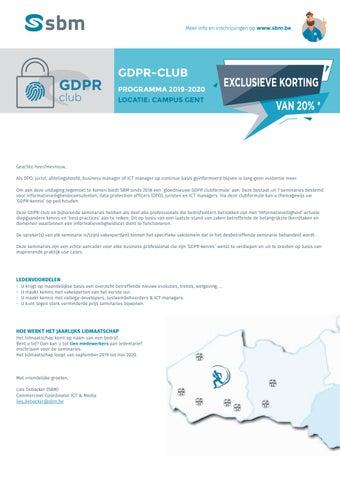 SBM GDPR-club najaar 2019