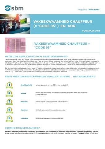 SBM vakbekwaamheid chauffeur en ADR najaar 2019