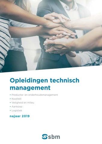 SBM opleidingen technisch management najaar 2019
