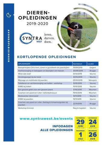 Syntra West dierenopleidingen najaar 2019