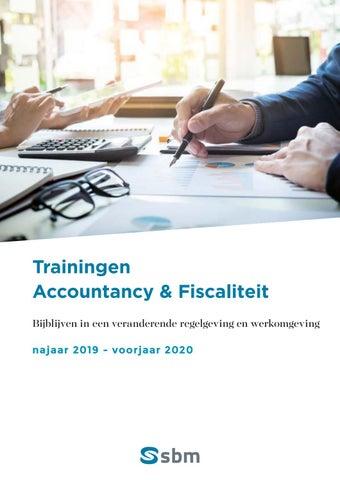 SBM Accountancy en fiscaliteit Najaar 2019